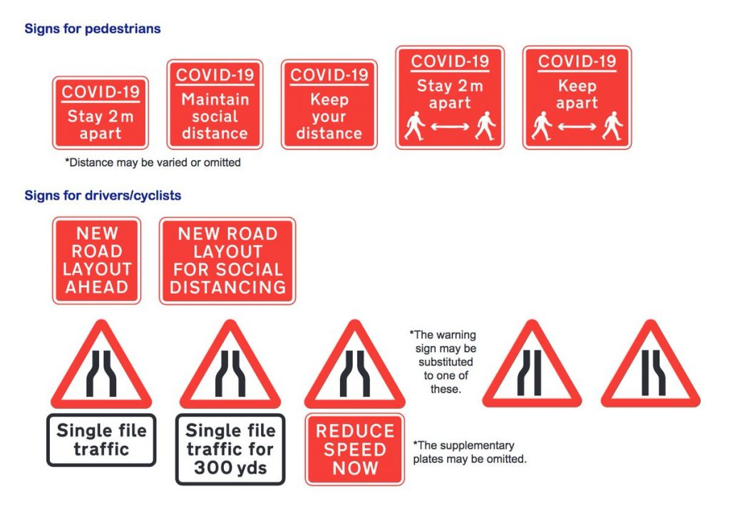 New road signs